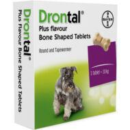 Drontal Plus ízesített tabletta 10 kg testtömeg kezelésére 6x
