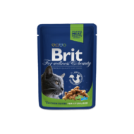 Brit Premium Cat Chicken Slices for Sterilised 100 g