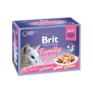 Brit Premium Cat Delicate Fillets in Jelly with Family Plate 12x85 g
