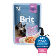 Brit Premium Cat Fillets in Gravy with Salmon for Sterilised 85 g