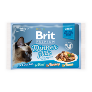 Brit Premium Cat Fillets in Gravy Dinner Plate 4x85 g