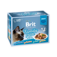 Brit Premium Cat Fillets in Gravy with Family Plate 12x85 g