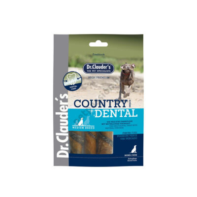 Dr.Clauder's Jutalomfalat Country Dentál Halbőr 100g