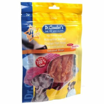 Dr.Clauder's Jutalomfalat Premium Csirke Filé Csíkok  80g