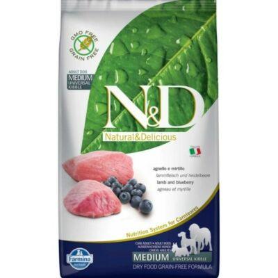 N&D táp kutyáknak Bárány&Áfonya Adult Medium 2,5kg