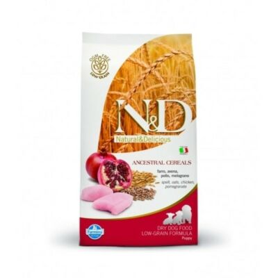 N&D táp kutyáknak  Low Grain Csirke&Gránátalma Puppy Mini 7kg
