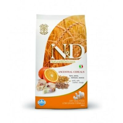 N&D táp kutyáknak  Low Grain Tőkehal&Narancs Adult Medium 800g