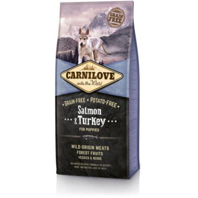 CarniLove Dog Puppy Salmon & Turkey - száraz kutyatáp * kölyök kutya számára Lazac-Pulyka hússal
