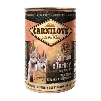 CarniLove Dog Puppy Konzerv Salmon & Turkey  - konzerv kutyatáp * kölyök kutya számára Lazac-Pulyka hússal
