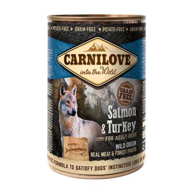 CarniLove Dog Adult Konzerv Salmon & Turkey - konzerv kutyatáp * felnőtt kutya számára Lazac-Pulyka hússal