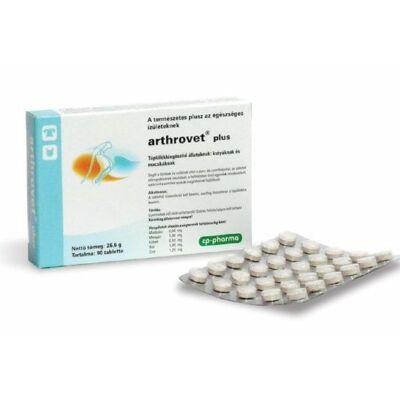 Arthrovet plus tabletta 90db, porc és kötőszövet regeneráló tabletta