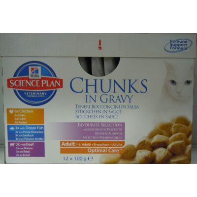 Hills SP Feline Adult CiG Multipack 12×85 g | Kutyatáp24