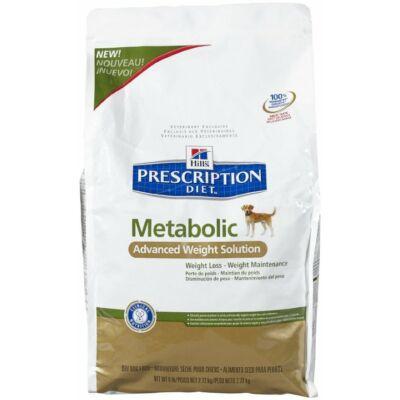 Hills PD Canine Metabolic elhízás, testsúly megtartása száraztáp 4 kg | Kutyatáp24