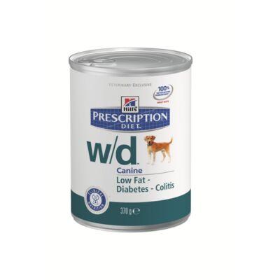 Hills PD Canine w/d elhízás, cukorbetegség, 0,37 kg, konzerv | Kutyatáp24