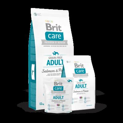 Brit Care Grain-Free Adult Salmon and Potato 1 kg | Kutyatáp24