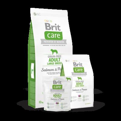 Brit Care Grain-Free Adult Large Breed Salmon and Potato 1 kg | Kutyatáp24