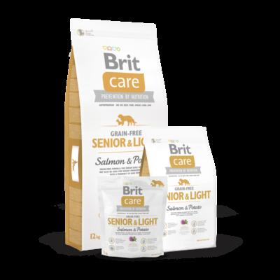 Brit Care Grain-Free Senior and Light Salmon and Potato 1 kg | Kutyatáp24