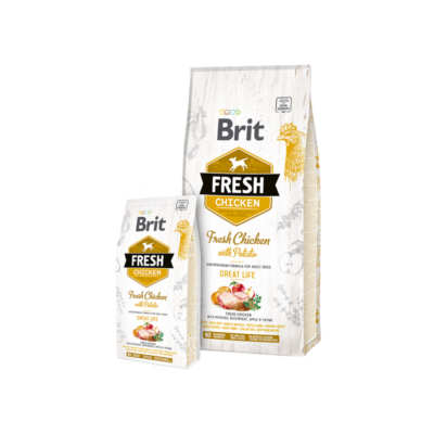 Brit Fresh Chicken with Potato Adult Great Life - 2,5 kg | Kutyatáp24