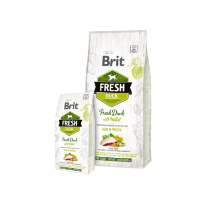 Brit Fresh Duck with Millet Active Run and Work - 2,5 kg | Kutyatáp24