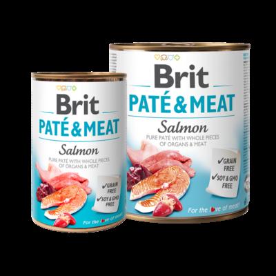 Brit Paté and Meat - Salmon - 400 g konzerv kutyatáp | Kutyatáp24