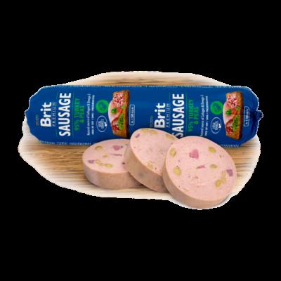 Brit Premium Sausage Turkey and Peas - 800 g | Kutyatáp24