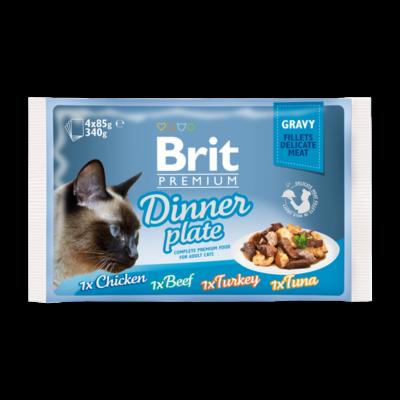 Brit Premium Cat Fillets in Gravy Dinner Plate 4x85 g | Kutyatáp24
