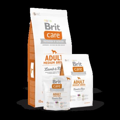 Brit Care Adult Medium Breed Lamb and Rice 1 kg   Kutyatáp24
