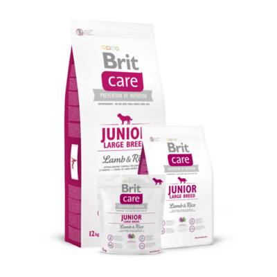 Brit Care Junior Large Breed Lamb and Rice 1 kg   Kutyatáp24