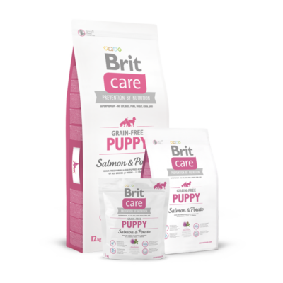 Brit Care Grain-Free Puppy Salmon and Potato 1 kg | Kutyatáp24