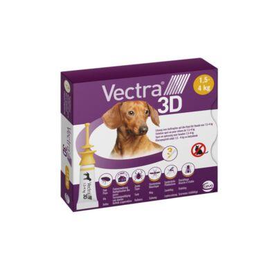 VECTRA® 3D rácsepegtető oldat kutyáknak XS (1,5-4 kg)