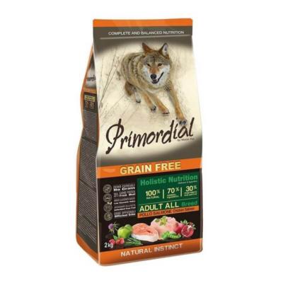 Primordial Grain Free - Adult Csirke és Lazac - 2 kg | Kutyatáp24